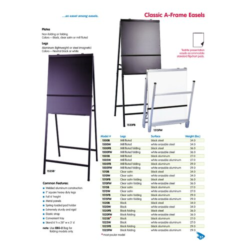 Testrite Classic A-Frame Easel with Black Legs