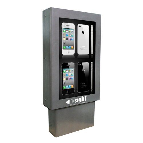 "Insight Digital Signage Encompass Indoor Digital Signage Enclosure for Two 46"" LCDs"