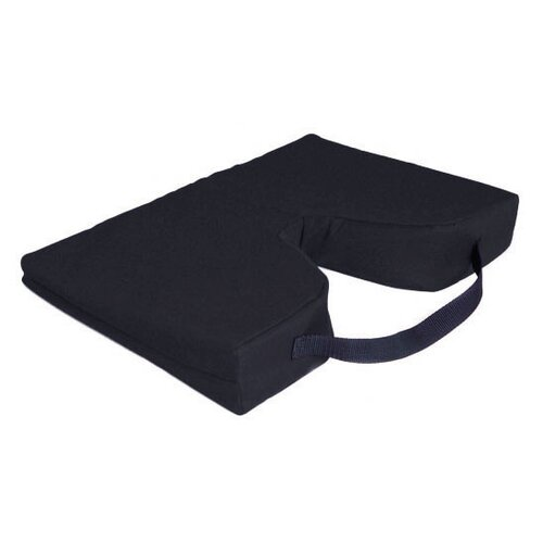 Essential Medical Sloping Coccyx Cushion in Black