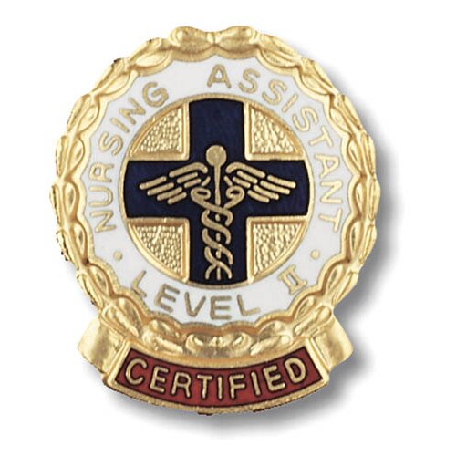 Prestige Medical Certified Nursing Assistant Level II Wreath Edge with Emblem Pin