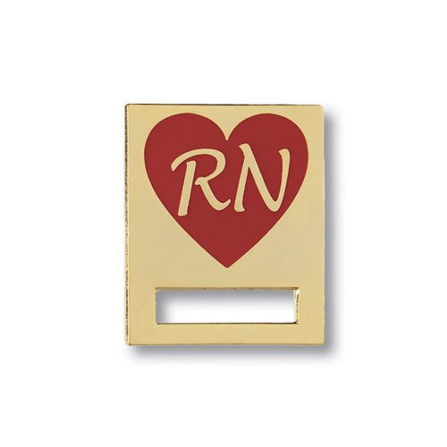 Prestige Medical Registered Nurse Heart Cloisonne Badge Tac