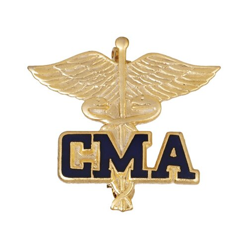 Prestige Medical Certified Medical Assitant Caduceus with Emblem Pin