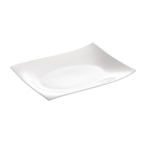 "Maxwell & Williams White Basics Motion Rectangular 10"" Plate"