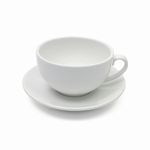 Maxwell & Williams White Basics 11 oz. Cappuccino Cup and Saucer