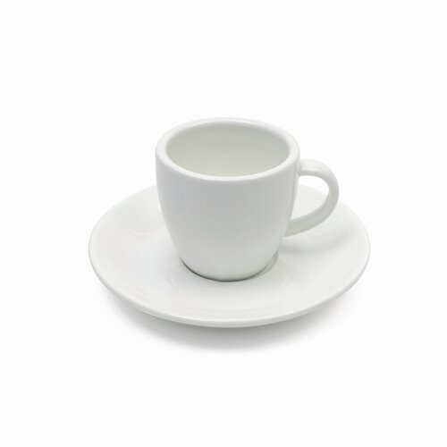 Maxwell & Williams White Basics 4 oz. Demi Cup and Saucer
