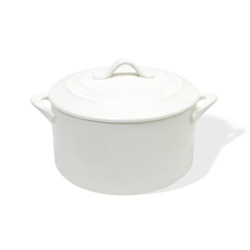 White Basics Round Casserole