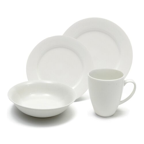 White Basics Providence 16 Piece Dinnerware Set