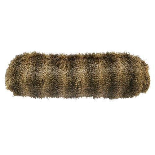 Racoon Faux Fur Neckroll Pillow