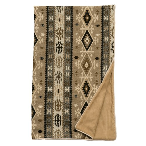 Mountain Storm Fawn Suede Throw