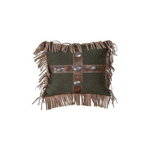 Wooded River Mustang Canyon Raven Suede Pillow