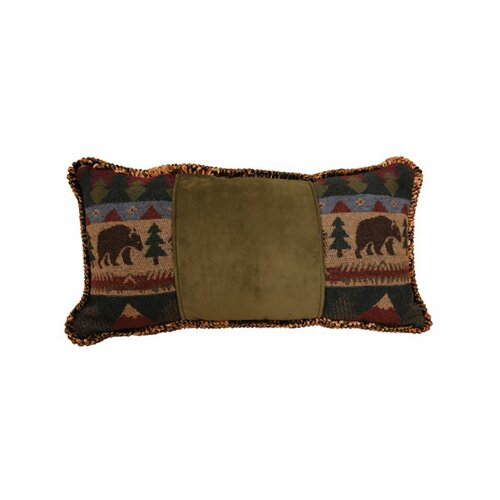Wooded River Cabin Bear Cord Pillow