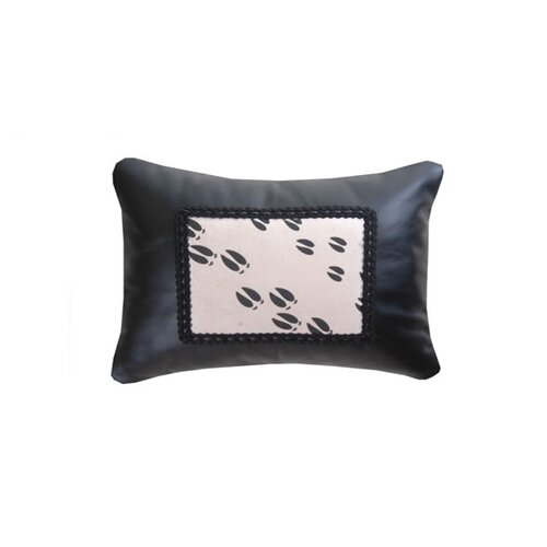 Wooded River Accessory Pillows Leather with Moose Track Heat Transfer Decorative Gimp Pillow