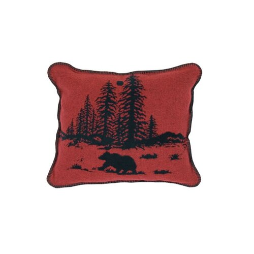 Wooded River Bear Pillow