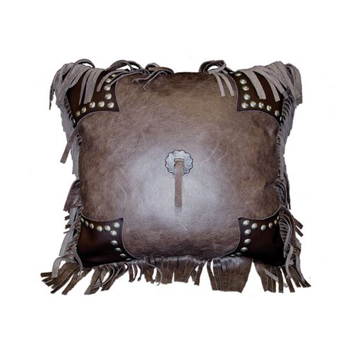 Wooded River Accessory Pillows Leather and Decorative Studs Pillow