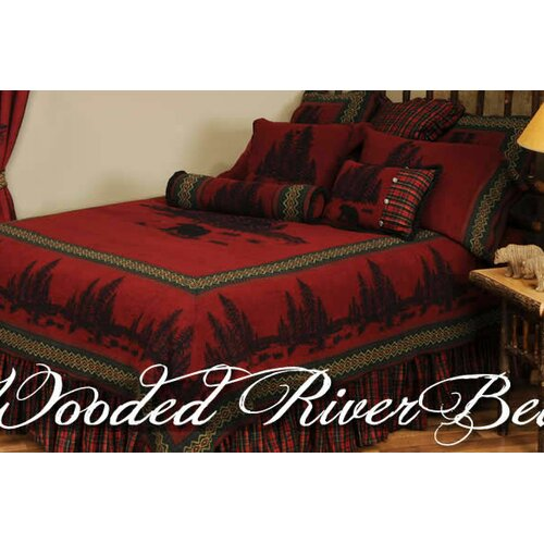 Wooded River Bear 7 Piece Bedding Set