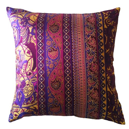 Filos Design Fiore Vintage Prints Floral Stripe Silk Pillow