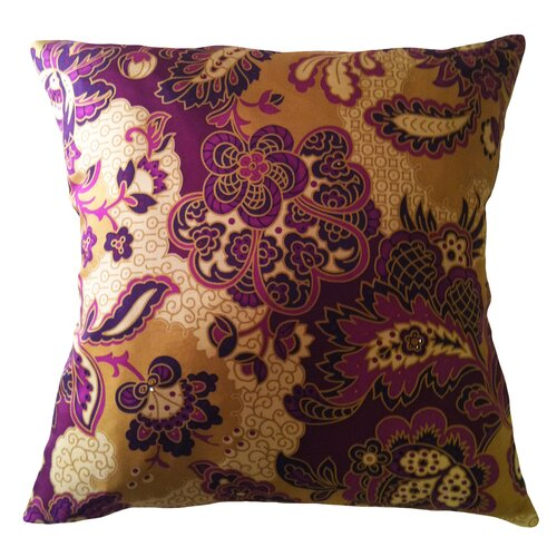 Fiore Vintage Prints Repeat Floral Silk Pillow