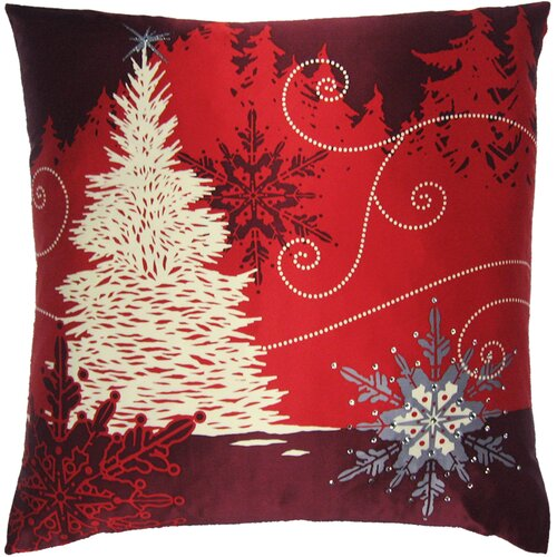 Filos Design Holiday Elegance Winterscape Silk Pillow