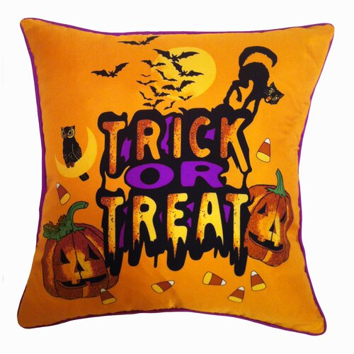 Holiday Elegance Trick or Treat Silk Pillow