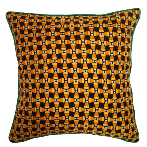 Holiday Elegance Candy Corn Silk Pillow