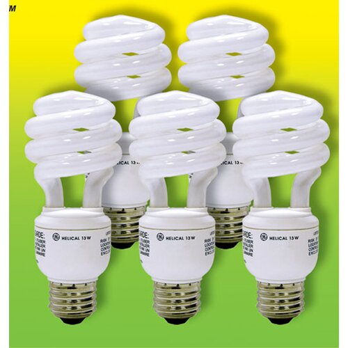 GE 13W Fluorescent Light Bulb (Pack of 5)