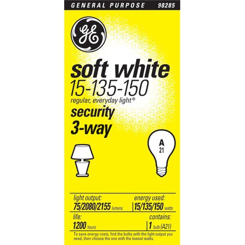 GE 15W 120-Volt (2800K) Incandescent Light Bulb