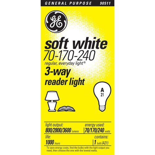 GE 70W Incandescent Light Bulb