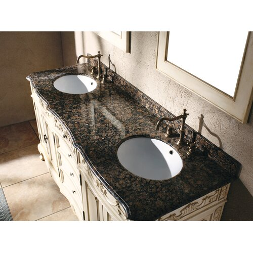 "James Martin Furniture Classico 72"" Double Granite Vanity Set"