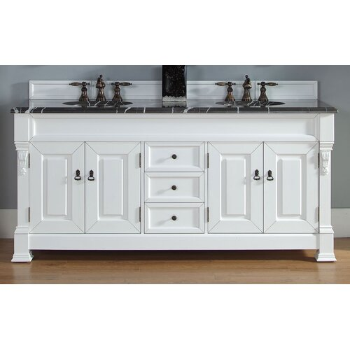 "James Martin Furniture Marlisa 72"" Double Bathroom Vanity Set"