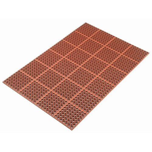 Kushion Safe Light Molded Rubber 3' x 5' Mat in Red