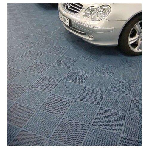 "Mats Inc. Quick Click Polypropylene 14.88"" x 14.88"" Interlocking Deck Tiles in Graphite"