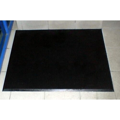 "Mats Inc. Brush Klean 32"" x 39"" Black Rubber Entrance Mat"