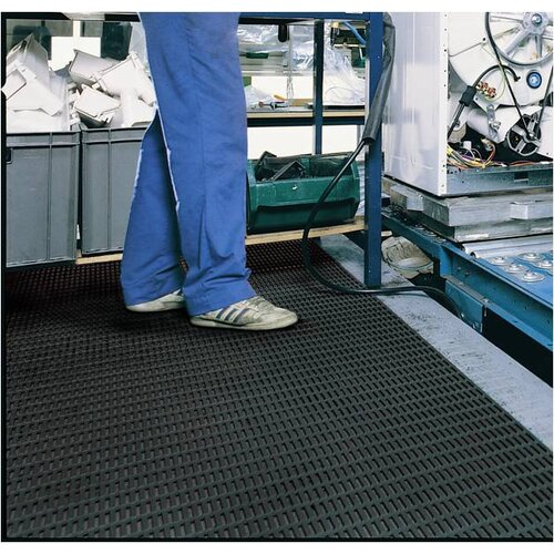 Mats Inc. Ergorunner 3' x 10' Safety and Comfort Matting in Black