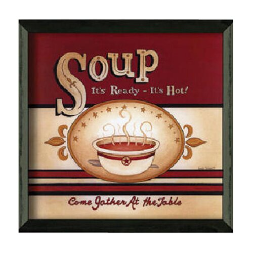 Soup - It's Ready by Linda Spivey Framed Graphic Art