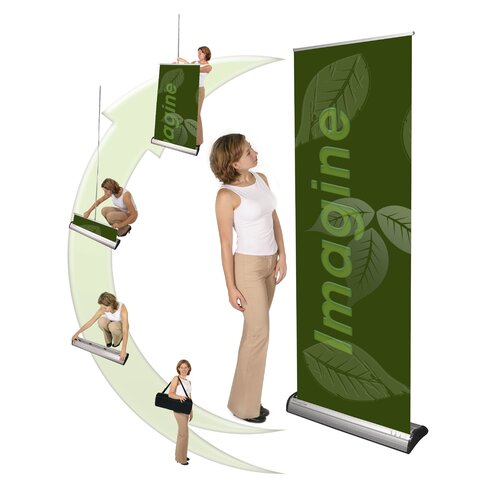 Exhibitor's Hand Book Multiple Size Orient Banner Stand