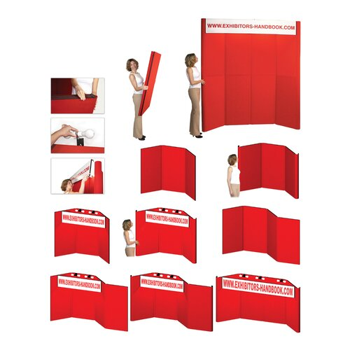 Exhibitor's Hand Book Hero H06 Folding Display Panel with Backlit Header