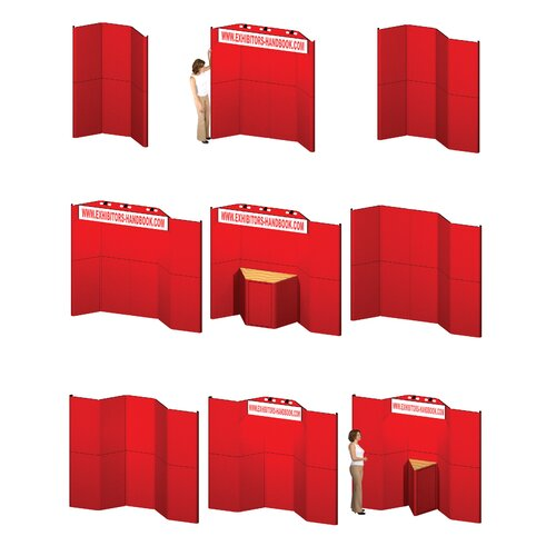 Exhibitor's Hand Book Hero H13 Full Height Exhibit Panel with Curved Edges