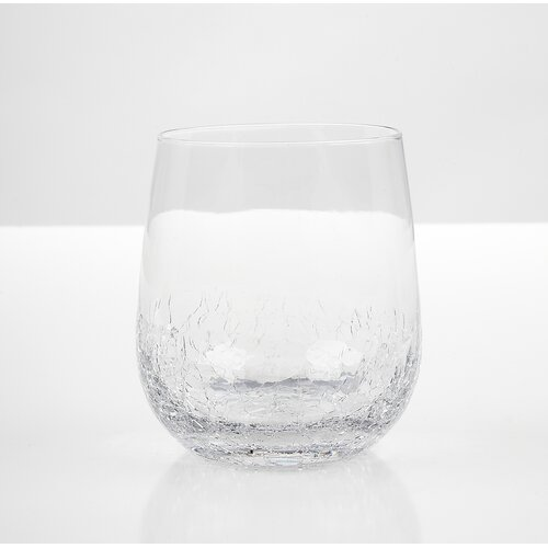 Impulse! Crackle Rock Old Fashioned Glass