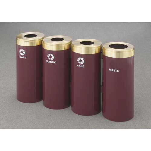 Glaro, Inc. RecyclePro Value Series Quadruple Unit 60 Gallon Multi Compartment Recycling Bin