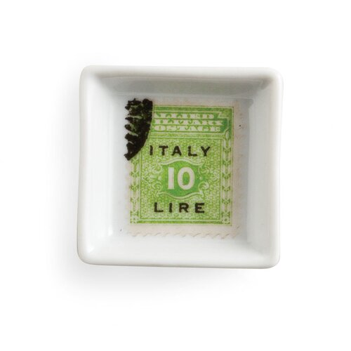 Rosanna Voyage Green Stamp Square Serving Tray