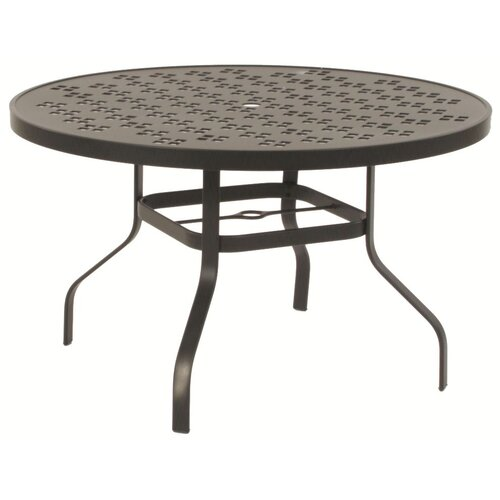 Patterned Round Bar Height Table with Hole
