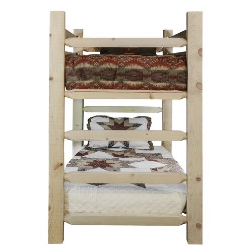 Montana Woodworks® Homestead Twin over Twin Bunk Bed with Built-In Ladder