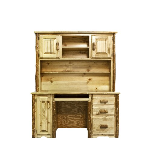 Montana Woodworks® Glacier Country Desk with Hutch