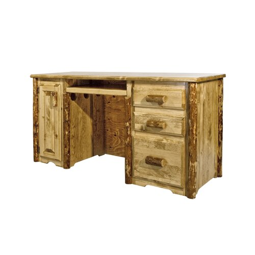 Montana Woodworks® Glacier Country 3 Drawers Computer Desk