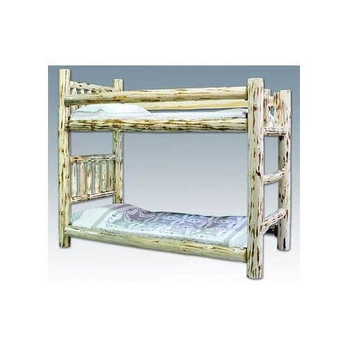 Montana Woodworks® Montana Twin over Twin Bunk Bed with Built-In Ladder