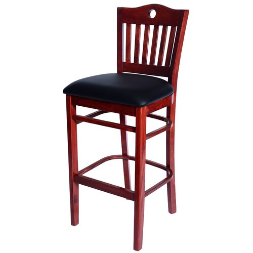 Poker Bar Stool with Cushion