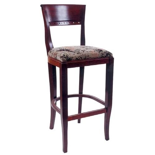 Beechwood Mountain LLC Biedermier Bar Stool with Cushion