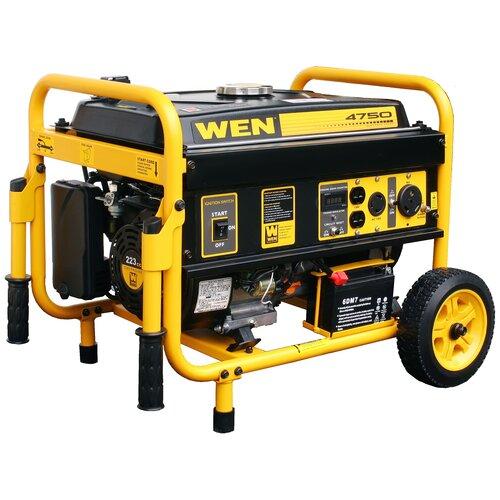 WEN 4750 Watt Gasoline Generator with Electric Start and Wheel Kit
