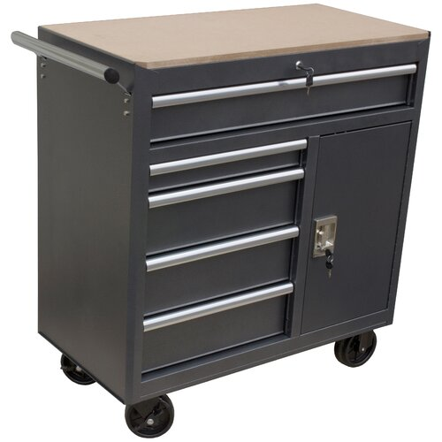 36 Quot Wide 5 Drawer Roll Away Tool Cabinet Wayfair