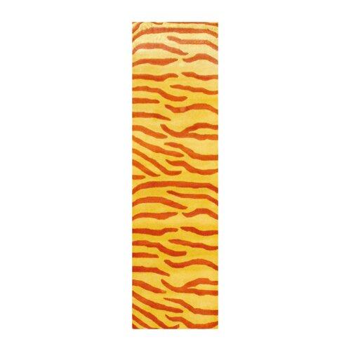 Herat Oriental Indo Zebra Stripe Yellow Rug